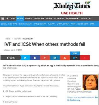 IVF and ICSI: When others methods fail